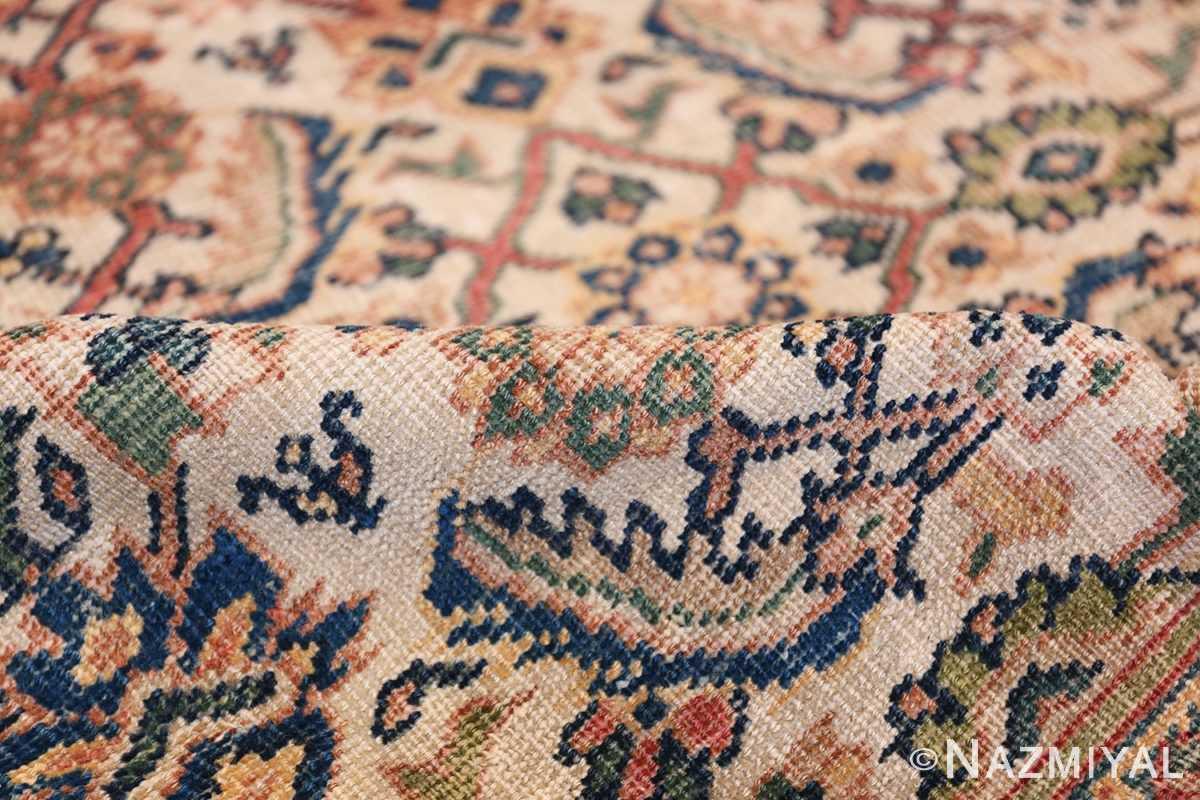 Antique Persian Sultanabad Carpet 50248 Ivory Pile Nazmiyal