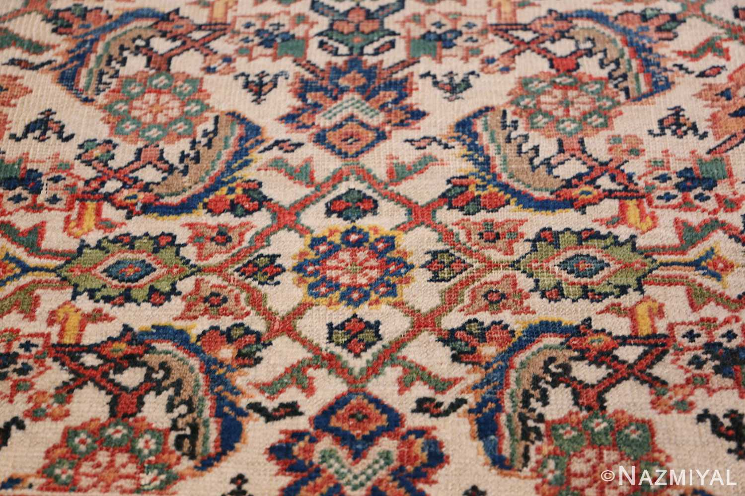 Antique Persian Sultanabad Carpet 50248 Lower Design Nazmiyal