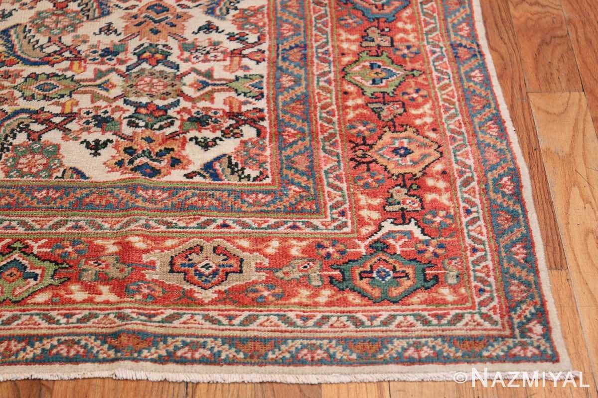 Antique Persian Sultanabad Carpet 50248 Side Corner Nazmiyal