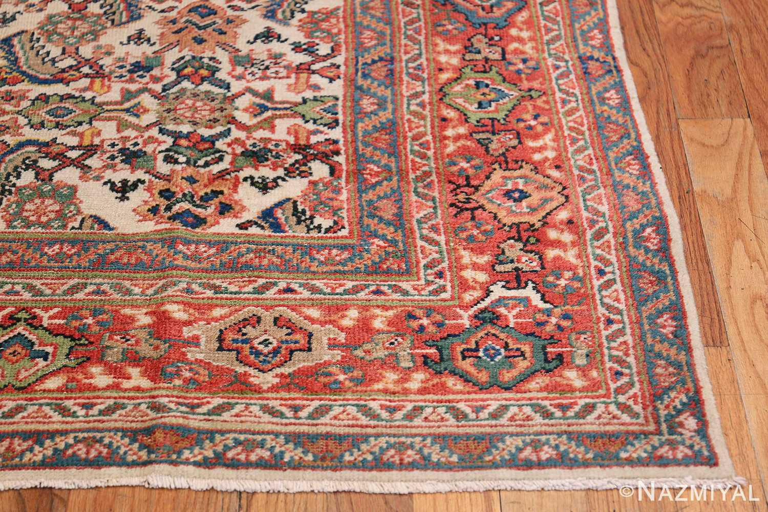 Antique Persian Sultanabad Carpet 50248 Side Corner Nazmiyal
