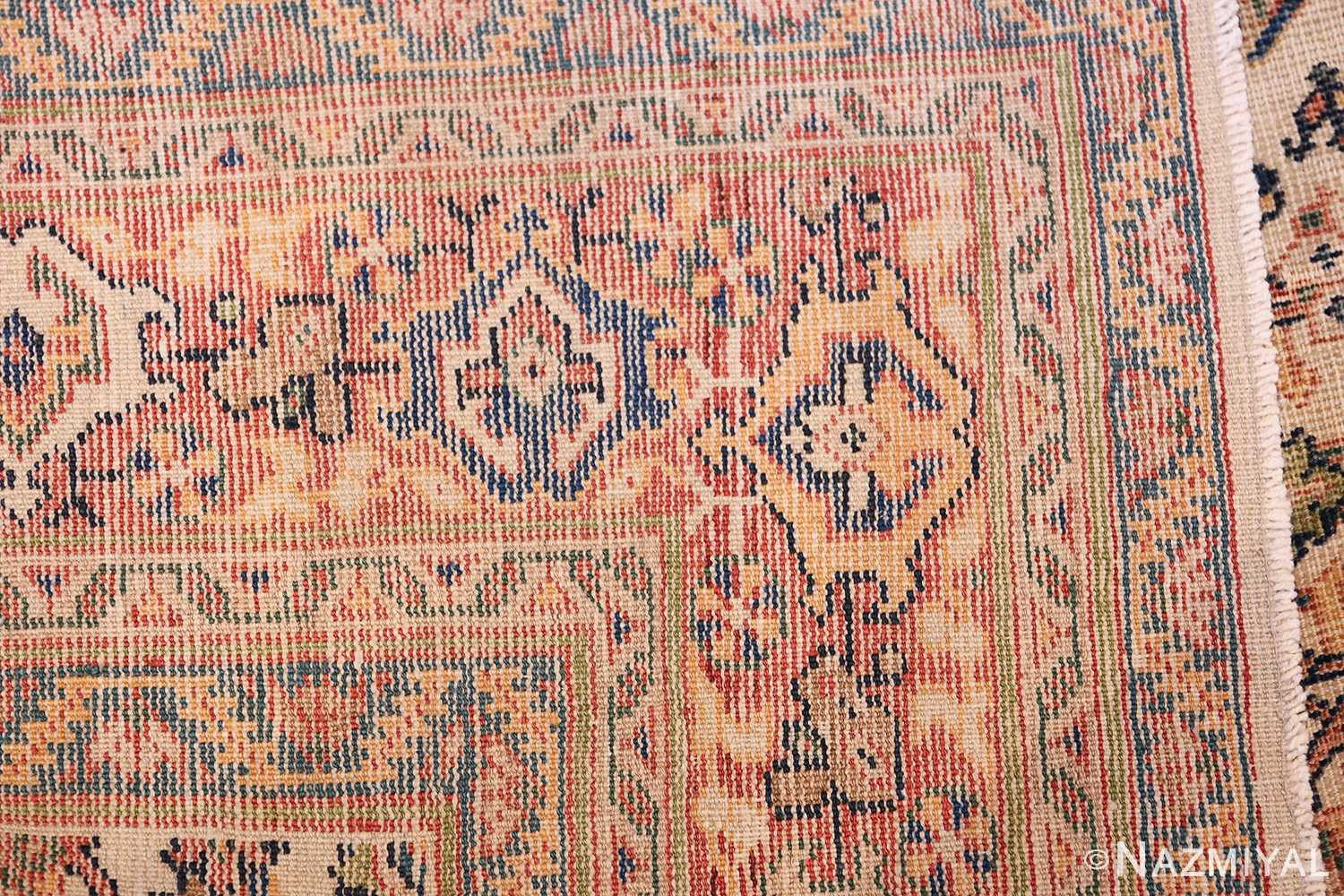 Antique Persian Sultanabad Carpet 50248 Woven Knots Nazmiyal