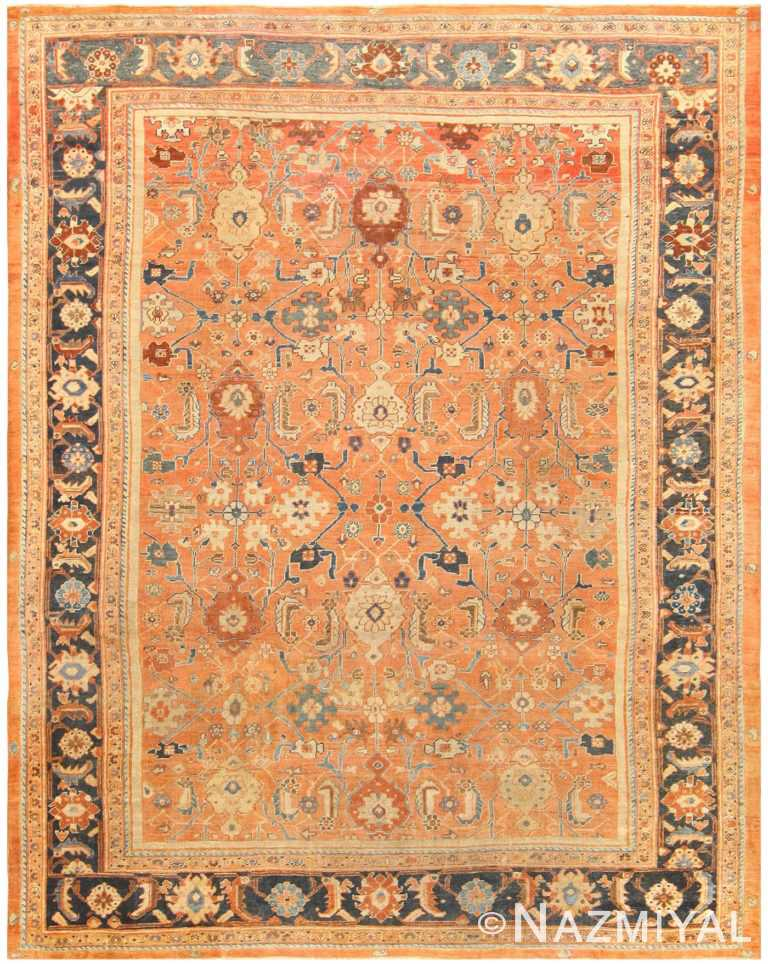 Antique Persian Sultanabad Rug 50004 Nazmiyal