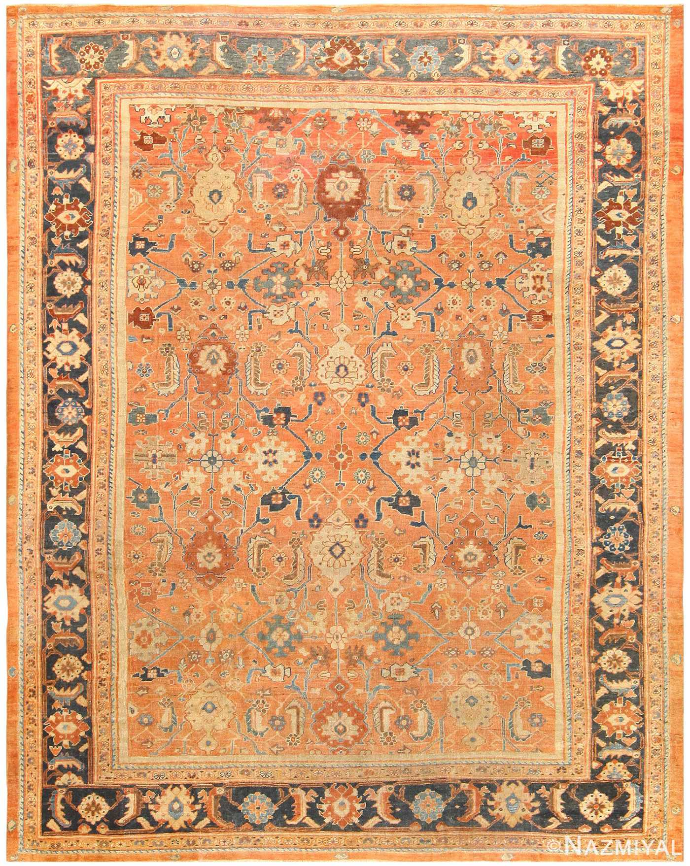 Antique Persian Sultanabad Rug 50004 Nazmiyal