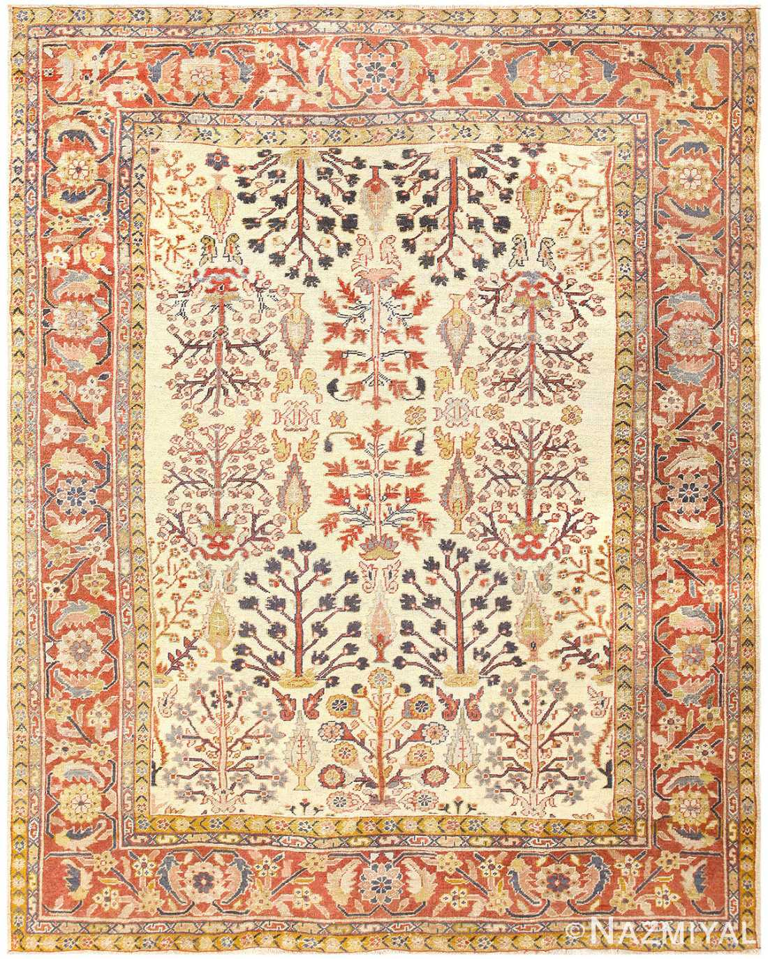 Antique Persian Sultanabad Rug 50095 Nazmiyal