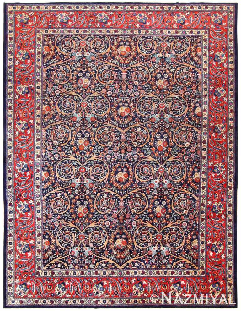 Antique Persian Tabriz Carpet 48568 Nazmiyal