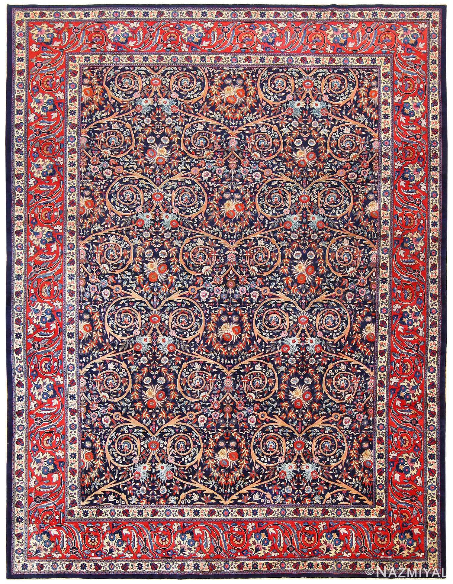 Antique Persian Tabriz Carpet 48568 Nazmiyal