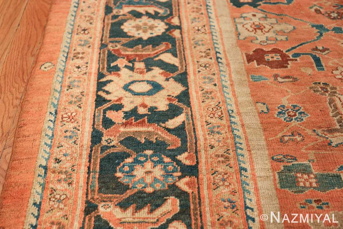 Antique Room Size Persian Sultanabad Rug 50004 Border Design Nazmiyal