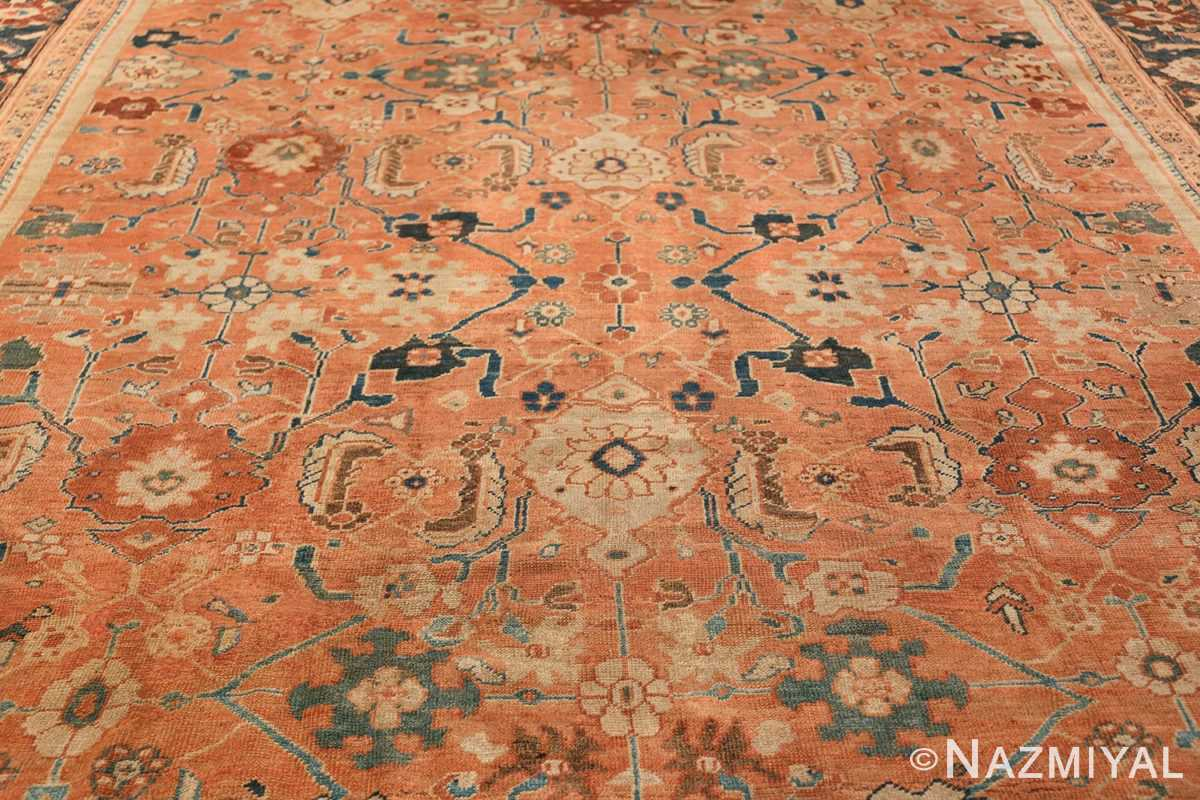 Antique Room Size Persian Sultanabad Rug 50004 Central Medallion Nazmiyal