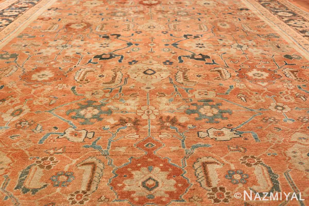 Antique Room Size Persian Sultanabad Rug 50004 Field Design Nazmiyal