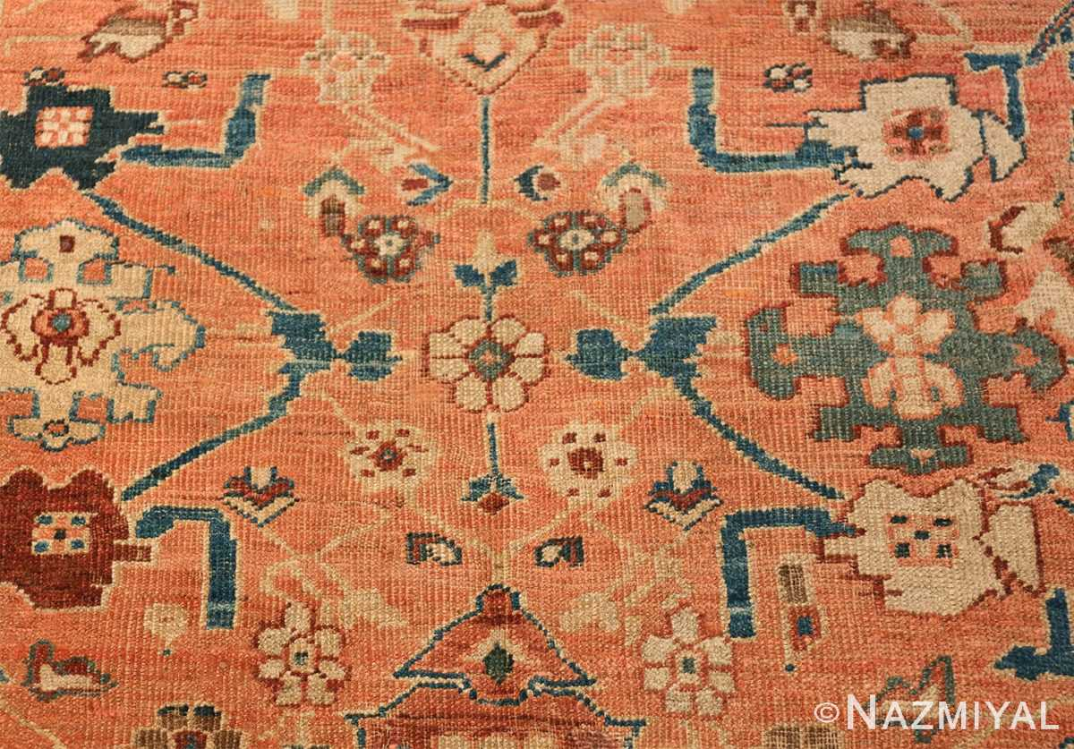 Antique Room Size Persian Sultanabad Rug 50004 Floral Design Nazmiyal
