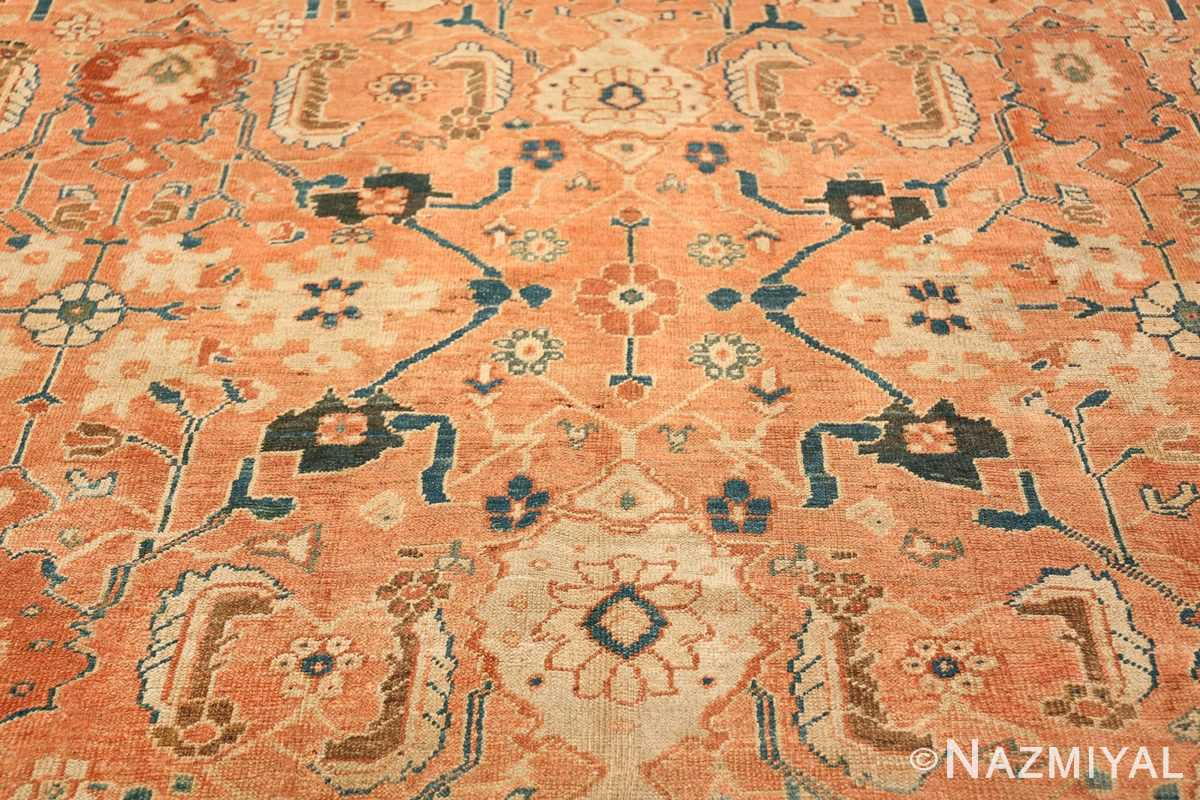 Antique Room Size Persian Sultanabad Rug 50004 Middle Part Nazmiyal