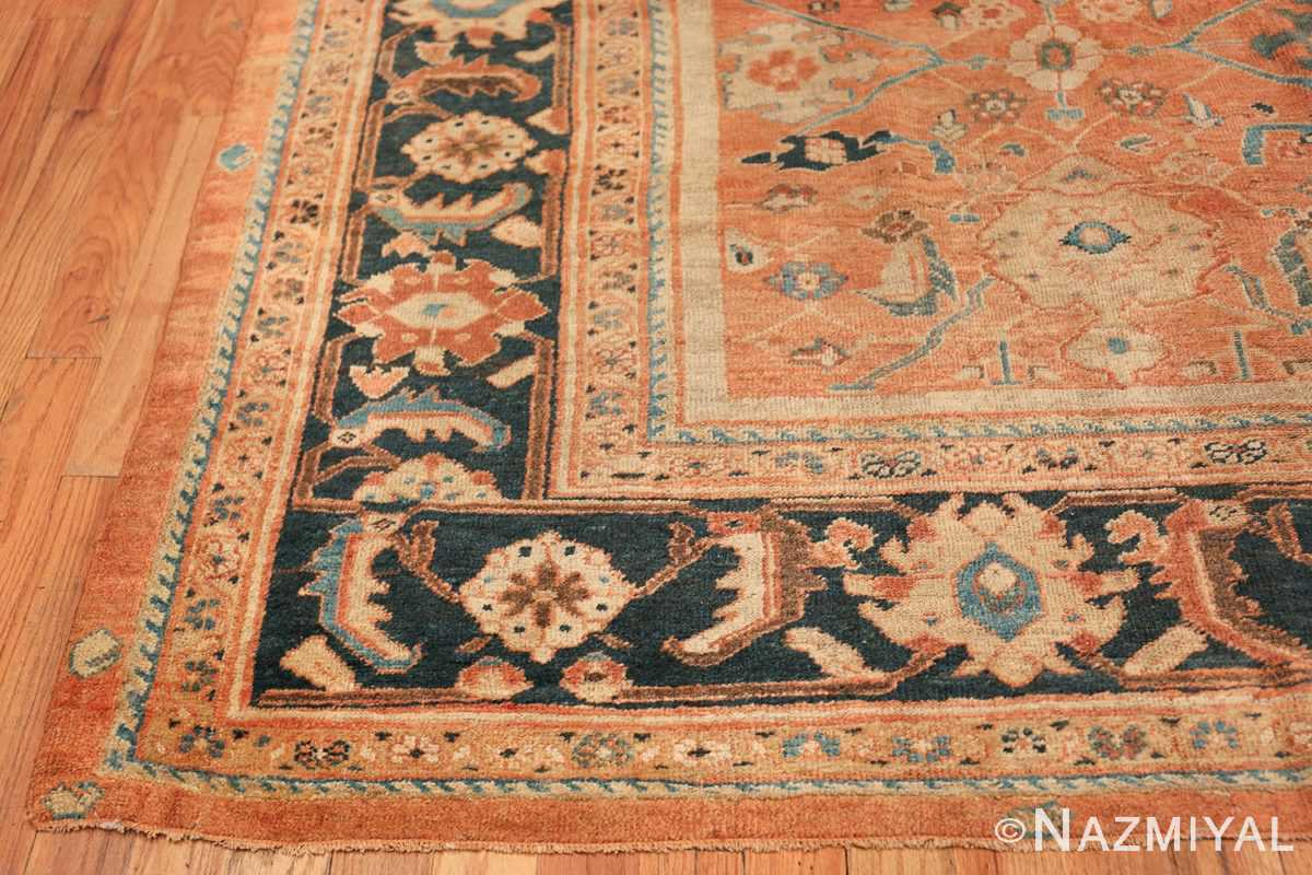 Antique Room Size Persian Sultanabad Rug 50004 Side Corner Nazmiyal