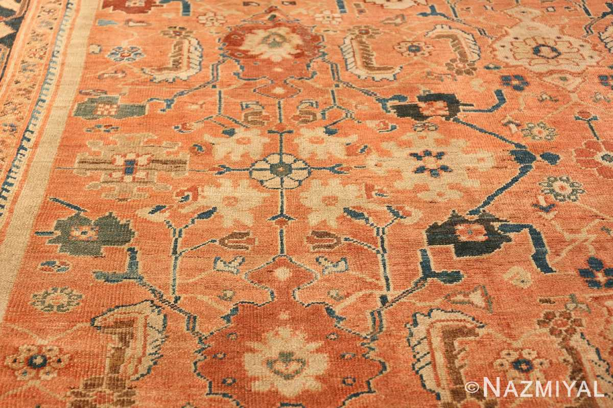 Antique Room Size Persian Sultanabad Rug 50004 Side Pattern Nazmiyal