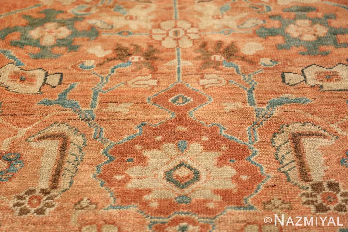 Antique Room Size Persian Sultanabad Rug 50004 Tiny Ivory Flower Nazmiyal
