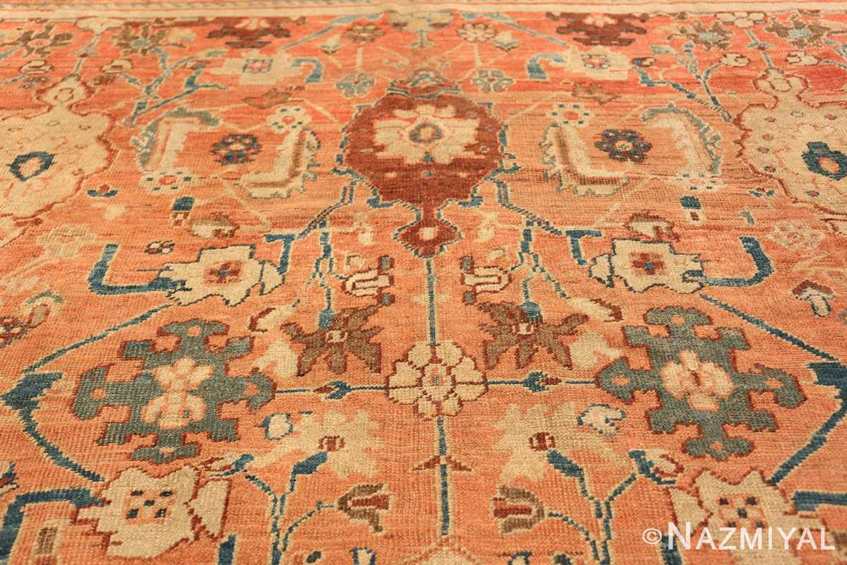 Antique Room Size Persian Sultanabad Rug 50004 Upper Design Nazmiyal