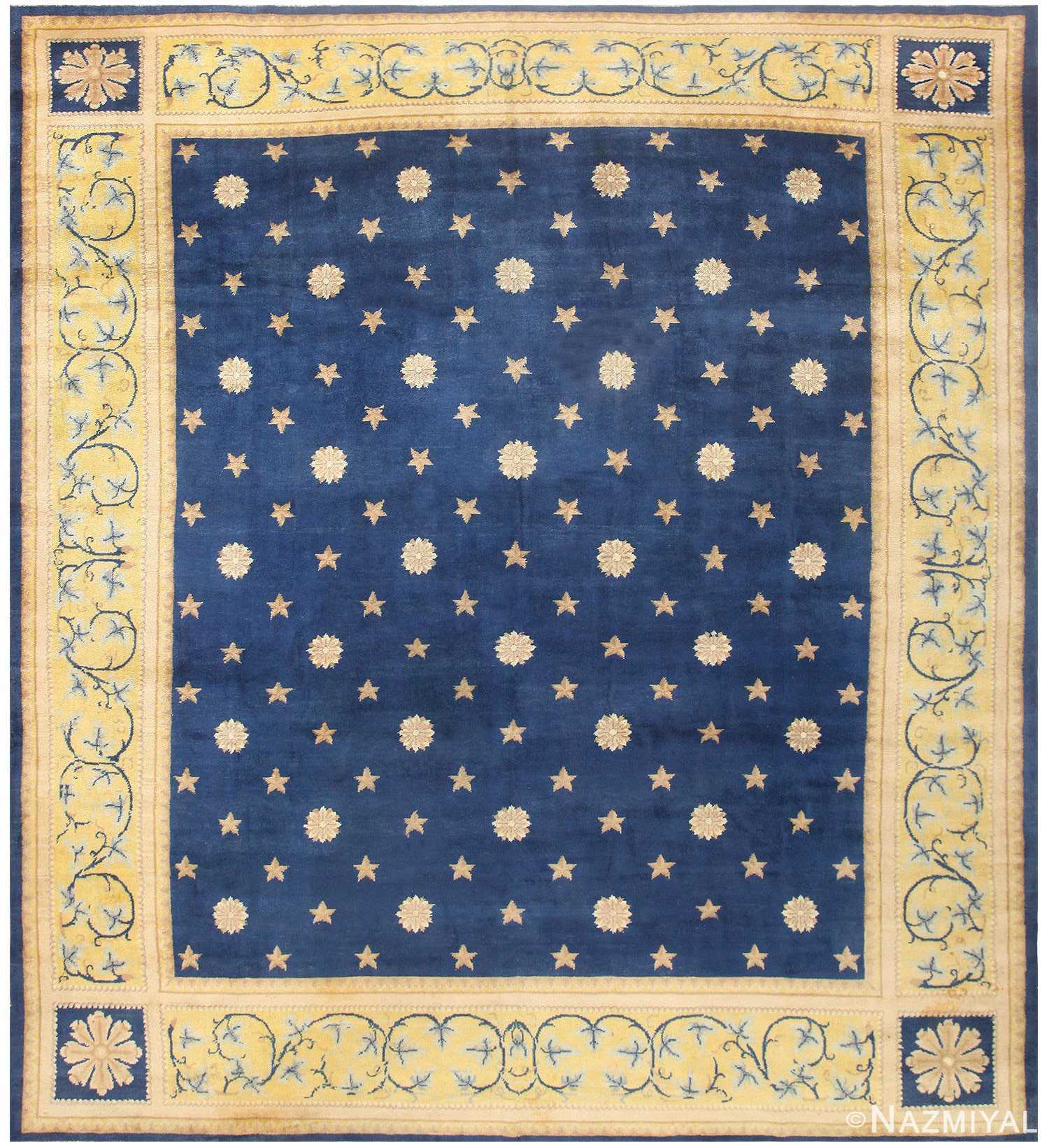 Antique Spanish Carpet with Celestial Design 48554 Nazmiyal