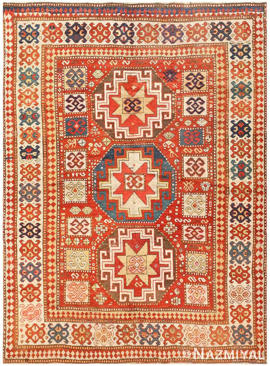 Antique Tribal Kazak Rug 50291 Detail/Large View