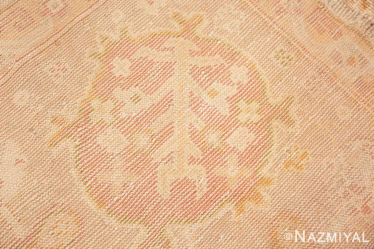 Back detail Large decoration Antique Turkish Oushak rug 48473 by Nazmiyal