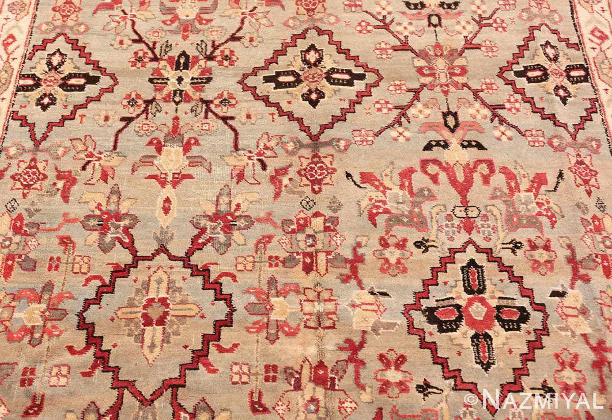 Background Antique Indian Agra rug 2983 by Nazmiyal