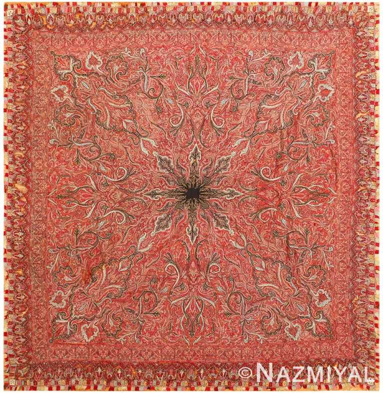 Beautiful Antique Indian Shawl 41481 Nazmiyal