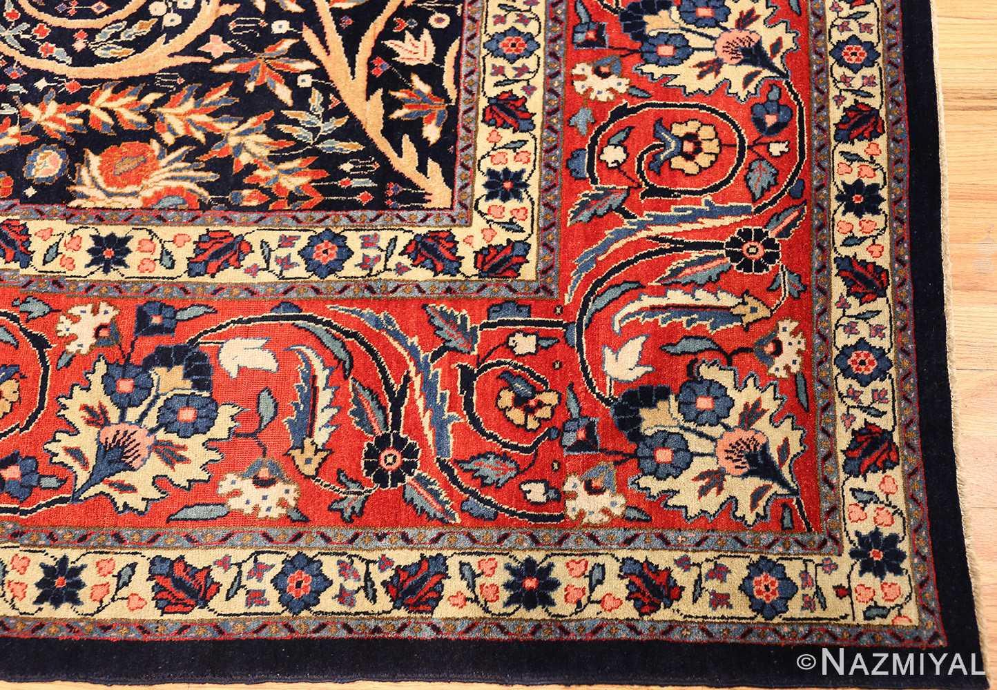 beautiful antique persian tabriz carpet 48568 corner Nazmiyal