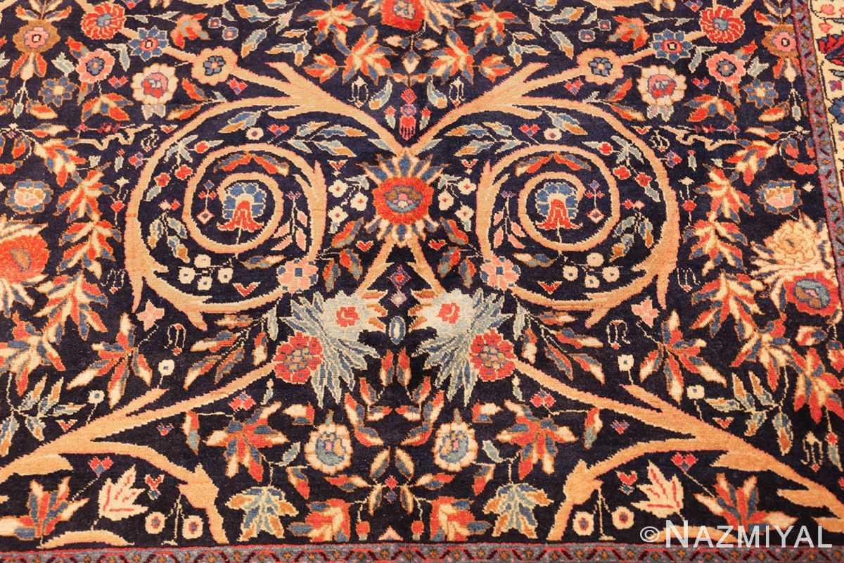 beautiful antique persian tabriz carpet 48568 flower Nazmiyal