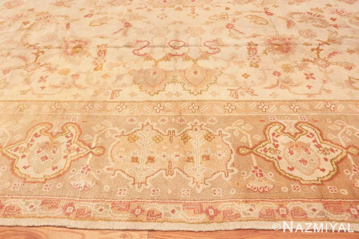 Border Large decoration Antique Turkish Oushak rug 48473 by Nazmiyal