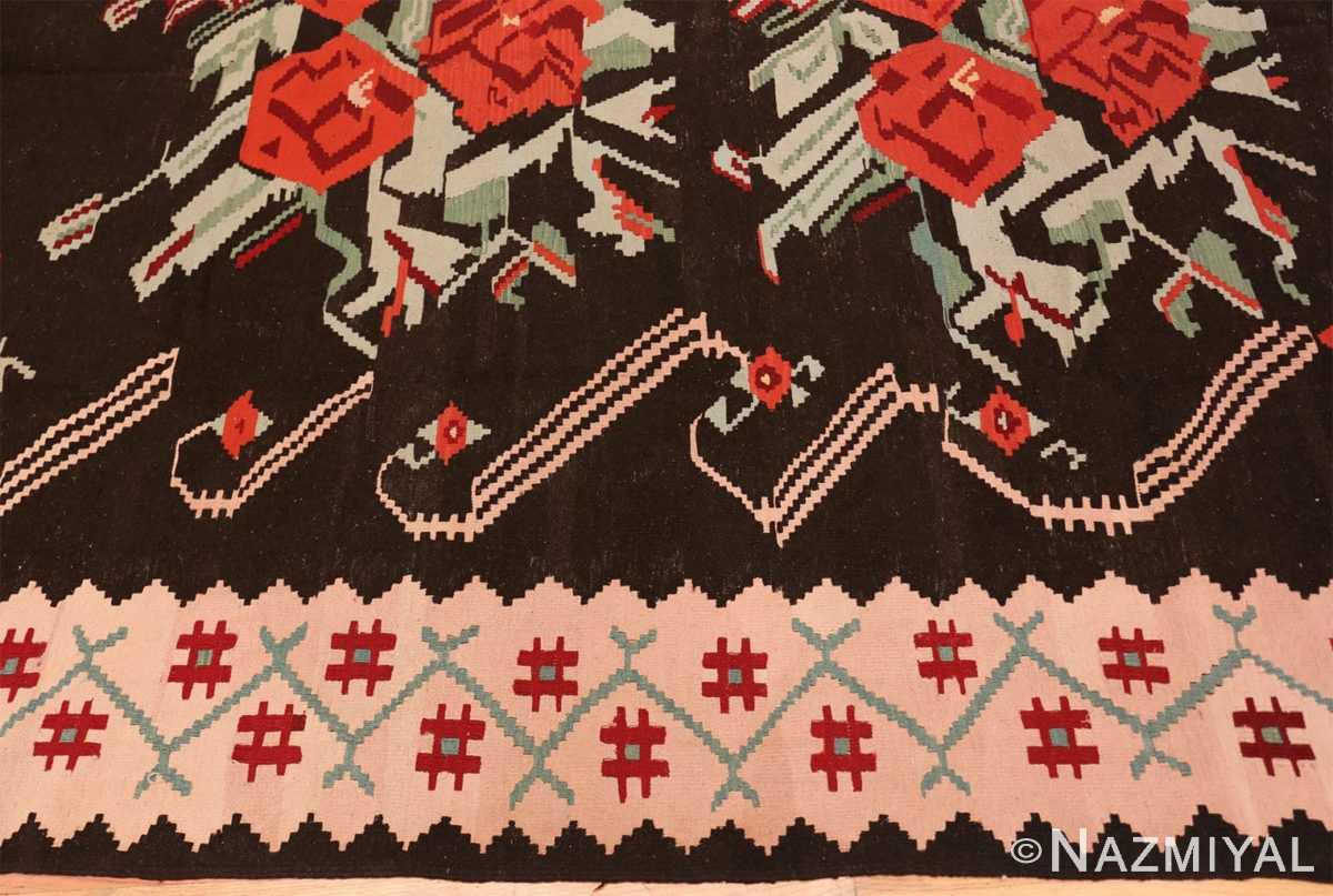 Border Vintage Turkish Kilim 50323 by Nazmiyal