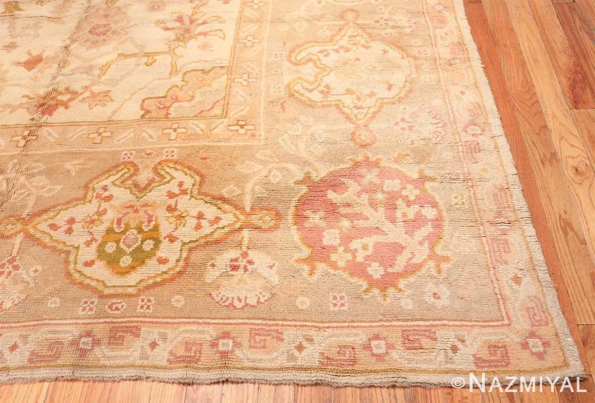 Corner Large decoration Antique Turkish Oushak rug 48473 by Nazmiyal