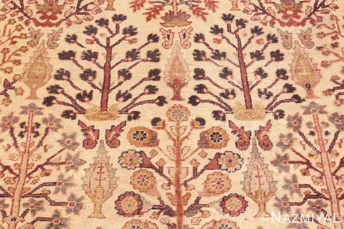 Detail Antique Ivory Persian Sultanabad rug 50095 by Nazmiyal