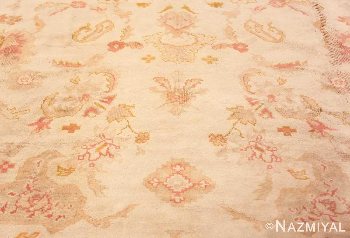 Detail Large decoration Antique Turkish Oushak rug 48473 by Nazmiyal