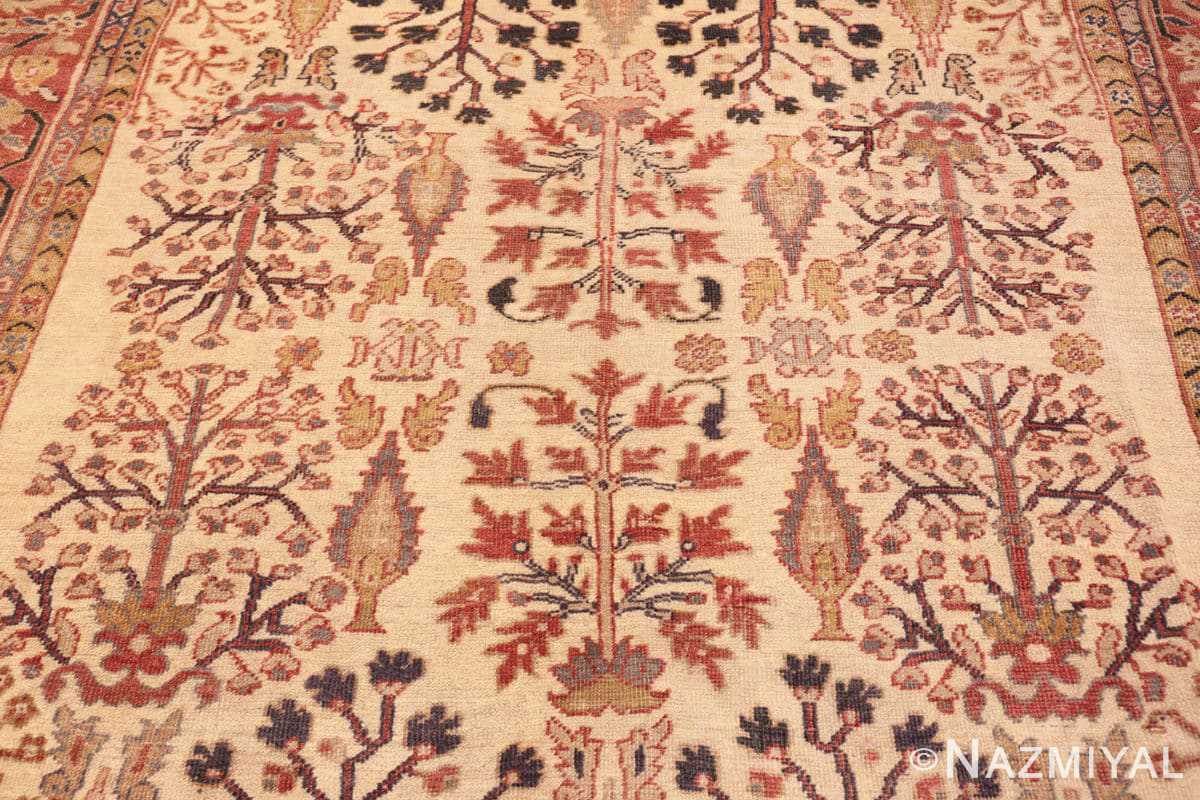 Field Antique Ivory Persian Sultanabad rug 50095 by Nazmiyal