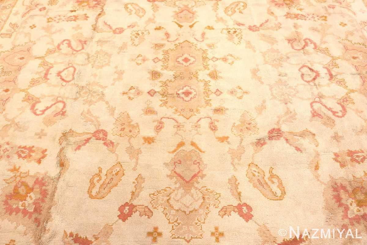 Field Large decoration Antique Turkish Oushak rug 48473 by Nazmiyal