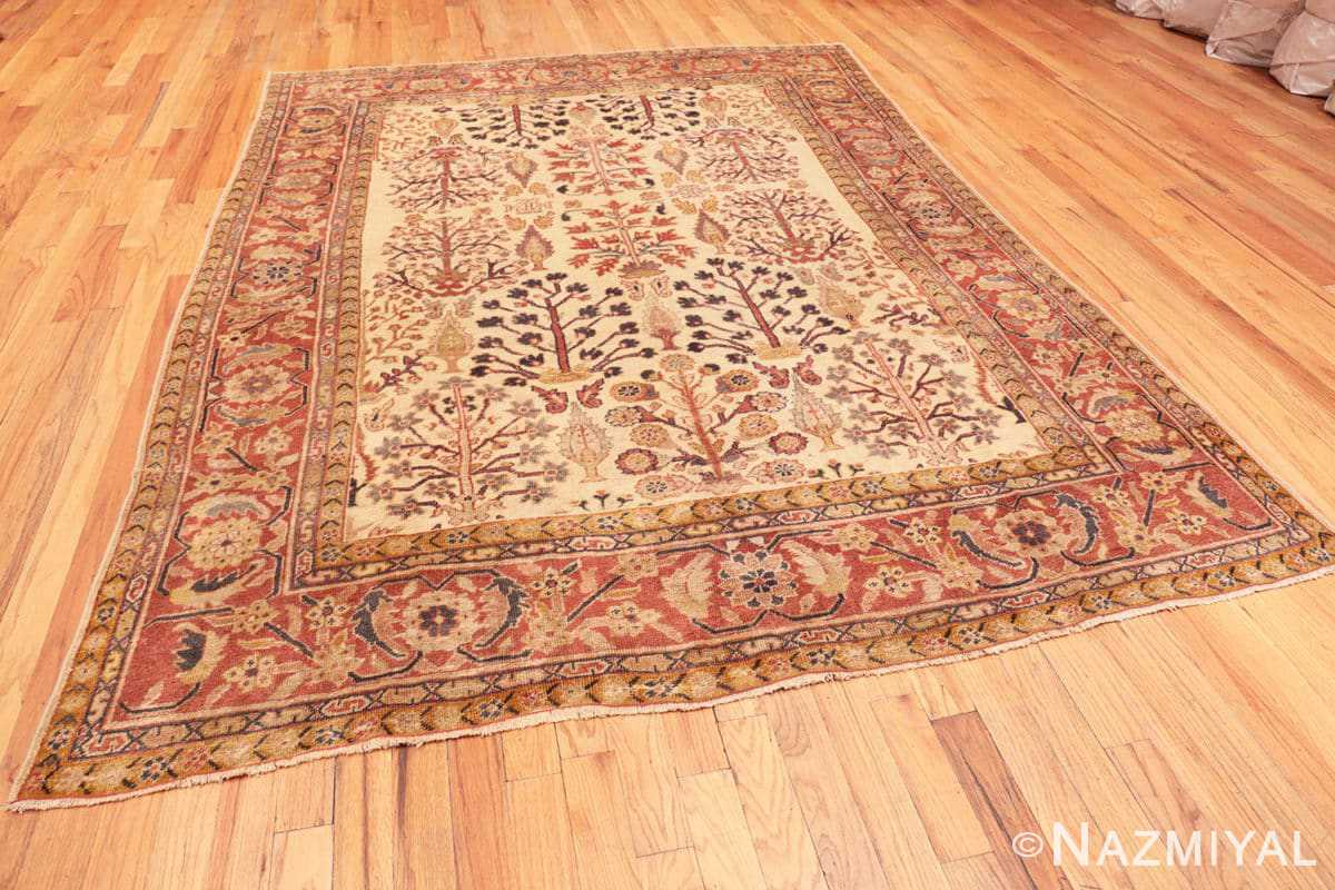 Full Antique Ivory Persian Sultanabad rug 50095 by Nazmiyal