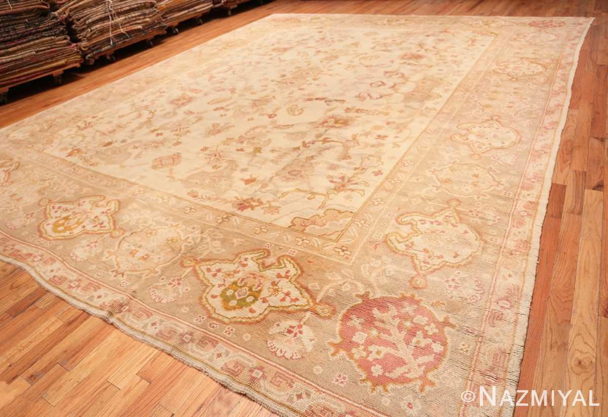Full Large decoration Antique Turkish Oushak rug 48473 by Nazmiyal