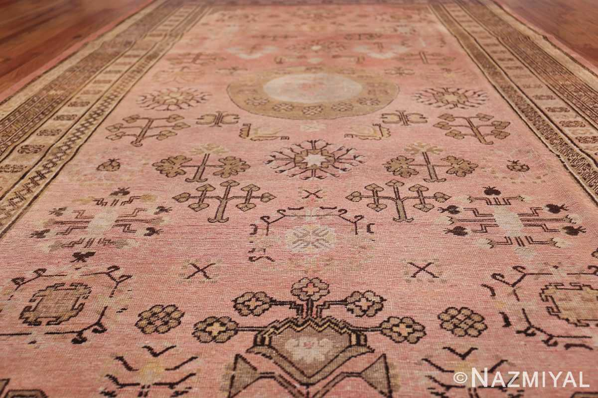 Gallery Size Antique Khotan Rug 50328 Field Low Angle Nazmiyal