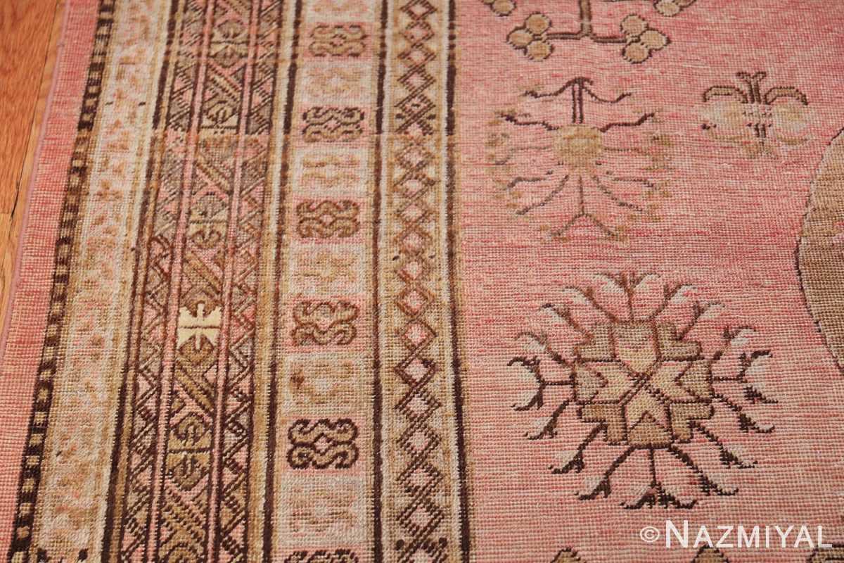 Gallery Size Antique Khotan Rug 50328 Geometric Border Nazmiyal