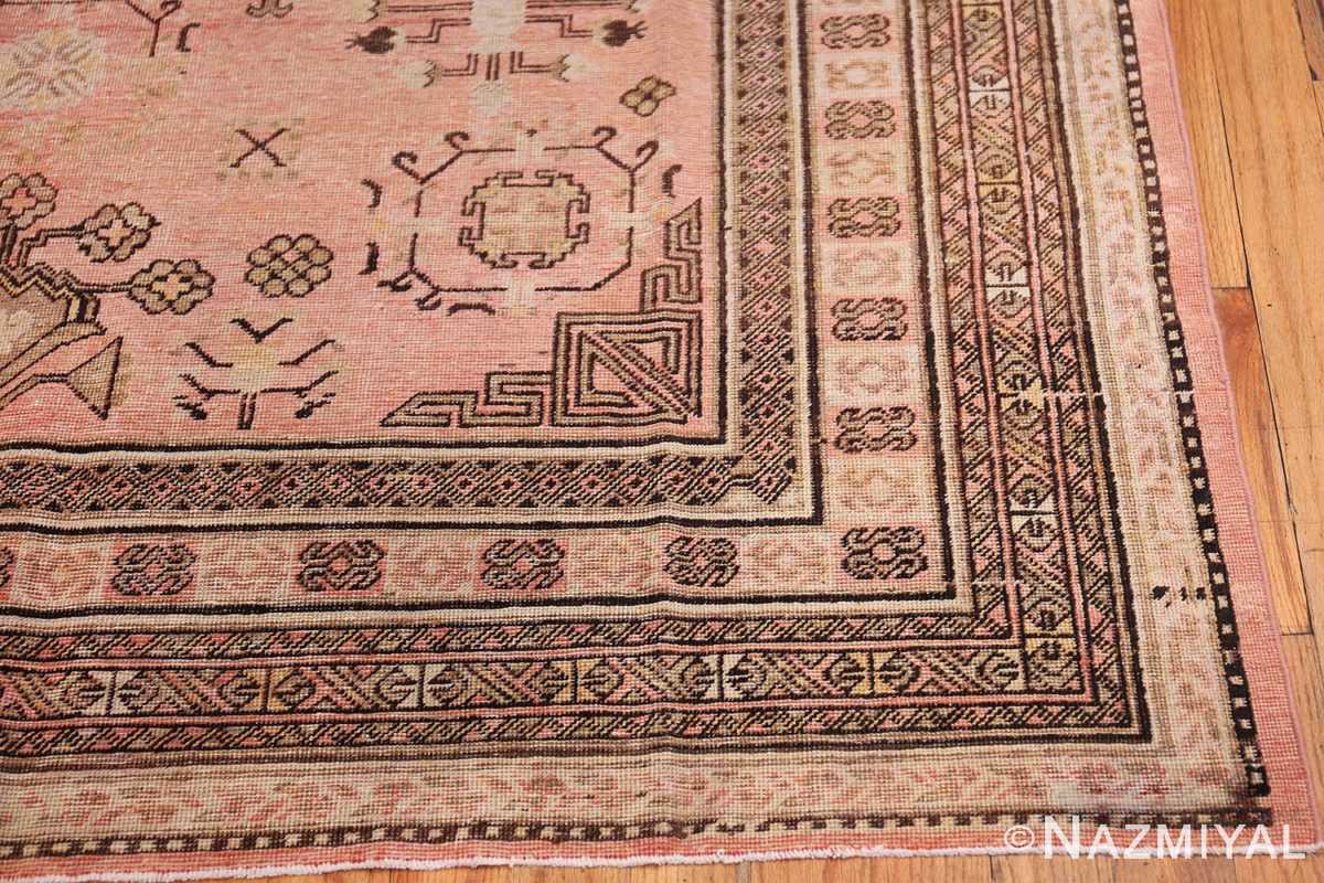 Gallery Size Antique Khotan Rug 50328 Side Corner Nazmiyal