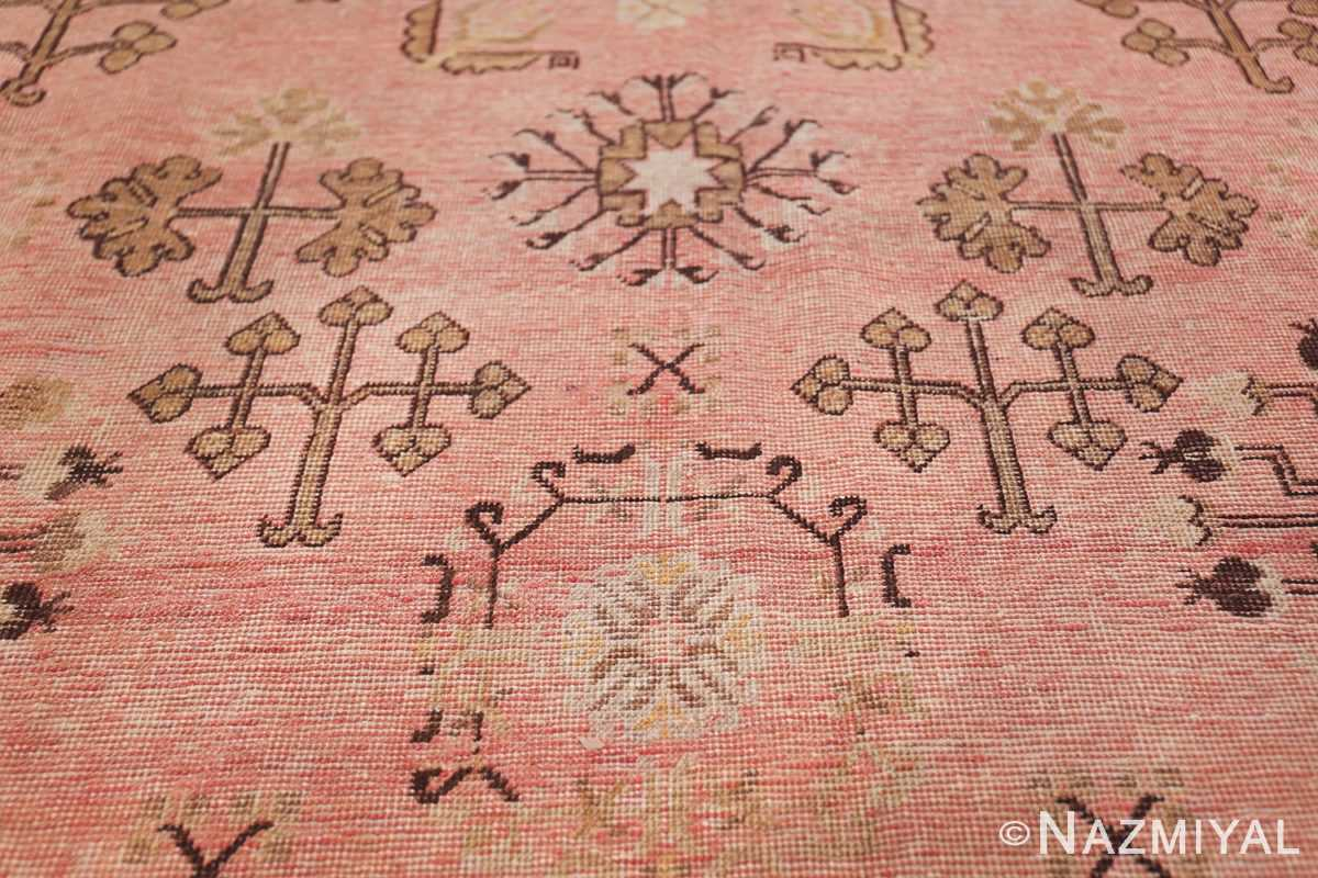 Gallery Size Antique Khotan Rug 50328 Water Lily Leaves Nazmiyal