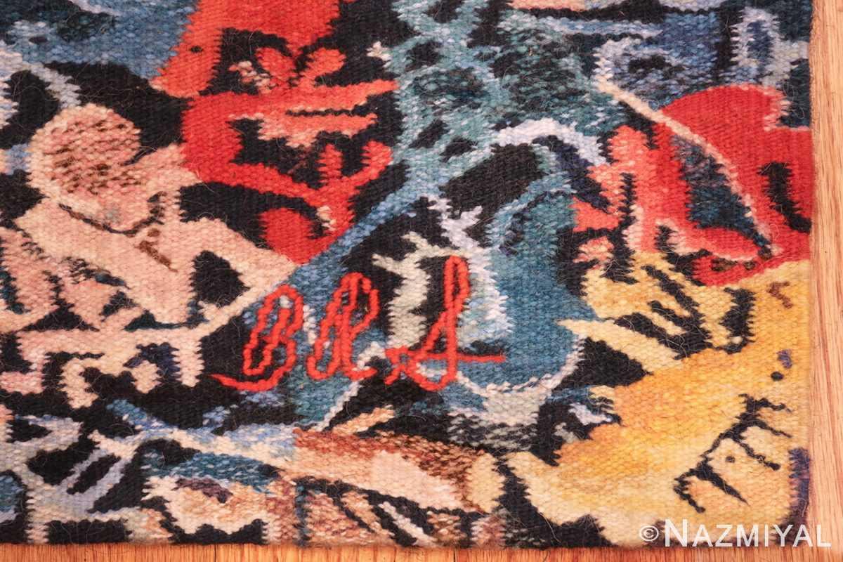 garden of eden vintage tapestry by barbara rae schaefer 48572 signature Nazmiyal
