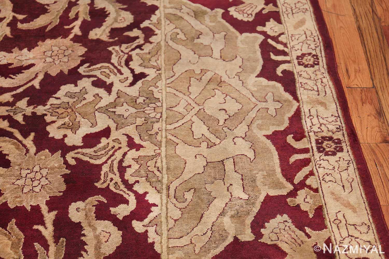 Large Antique Indian Agra Rug 44603 Border Design Nazmiyal