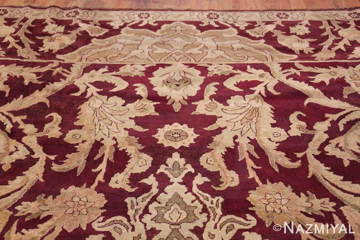 Large Antique Indian Agra Rug 44603 Closer Look Nazmiyal