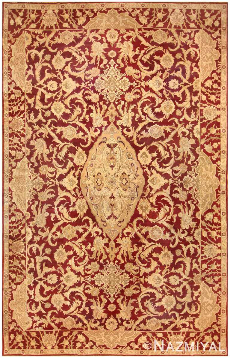 Large Antique Indian Agra Rug 44603 Nazmiyal