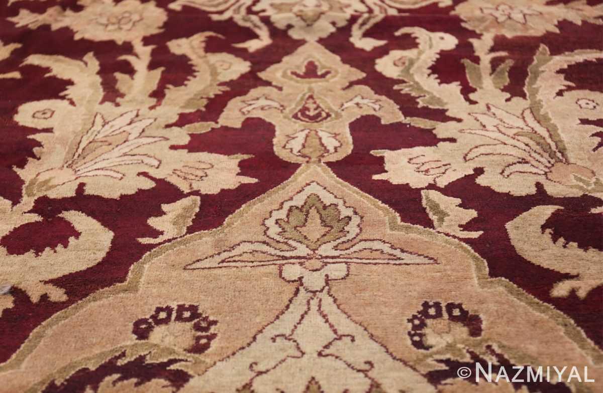 Large Antique Indian Agra Rug 44603 Ivory Tiara Nazmiyal