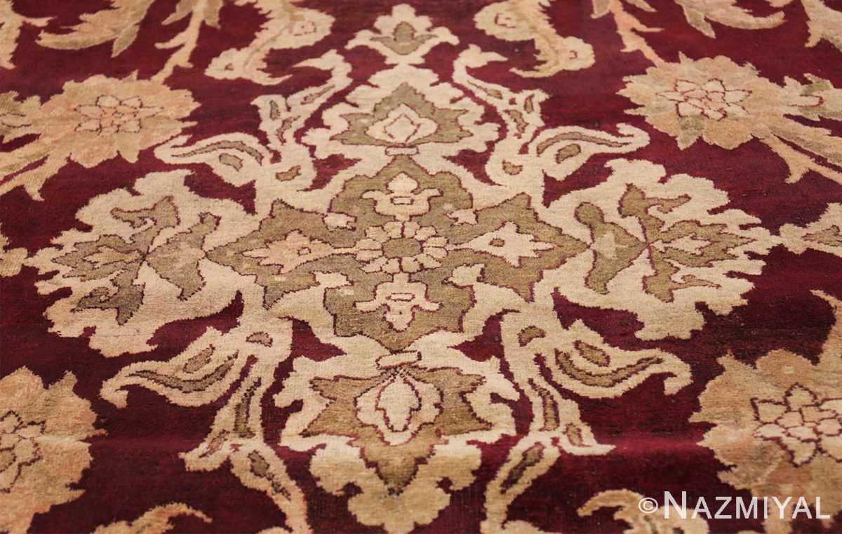 Large Antique Indian Agra Rug 44603 Tiara Nazmiyal
