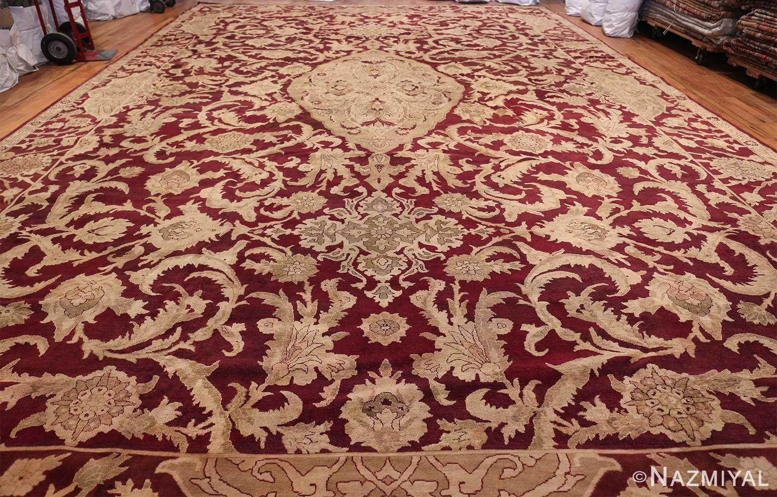 Large Antique Indian Agra Rug 44603 Whole Design Nazmiyal