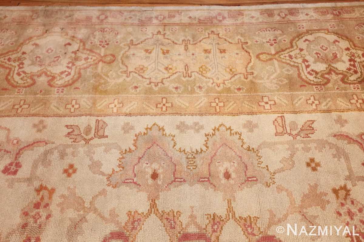 large decorative antique turkish oushak rug 48473 border Nazmiyal