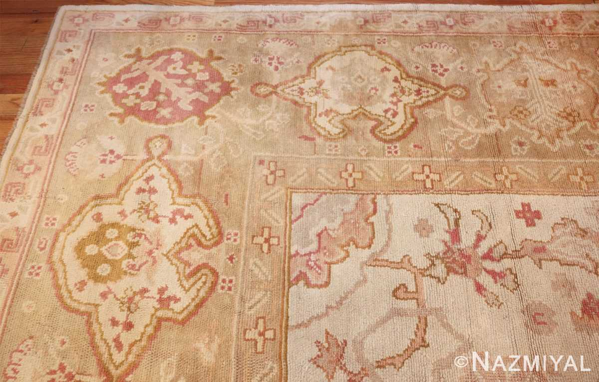 large decorative antique turkish oushak rug 48473 corner Nazmiyal
