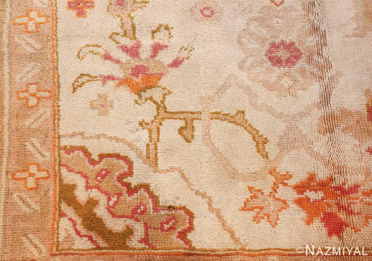large decorative antique turkish oushak rug 48473 design Nazmiyal