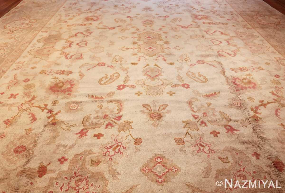 large decorative antique turkish oushak rug 48473 field Nazmiyal